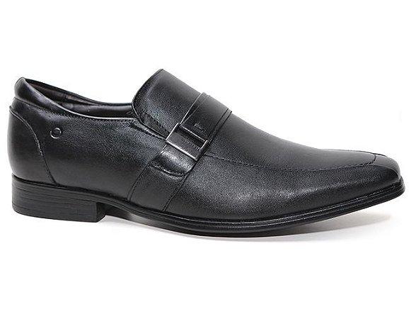 Sapato Democrata Cosmos Flex 013113 Social Masculino Couro Preto