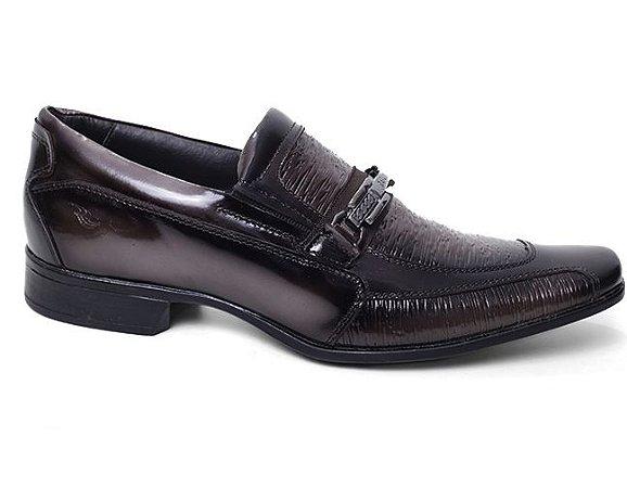 Sapato Rafarillo 79124 Social Masculino Couro Ocre