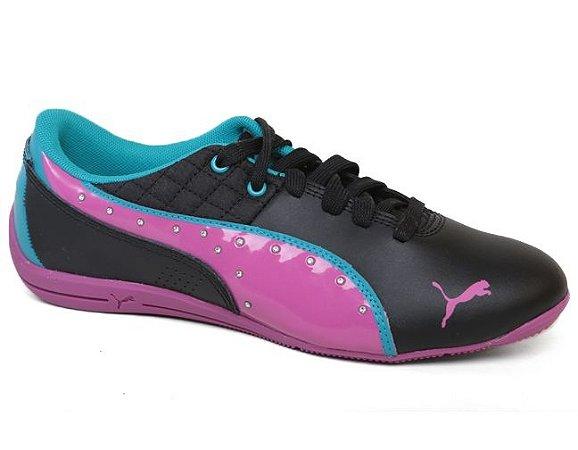 Tênis Puma Drift Cat 6 Diamonds 305185 Casual Black Violeta Azul