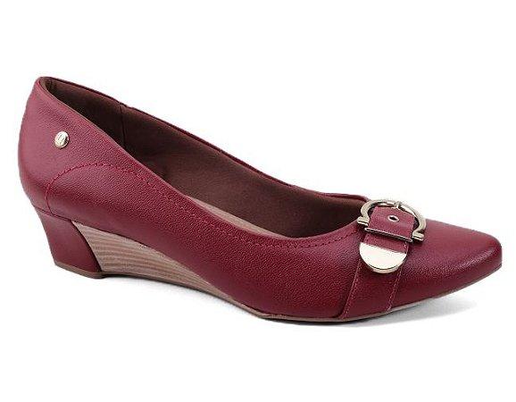 Sapato Usaflex S0806 Anabela Couro Feminino Jambo