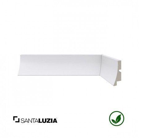 Rodapé Santa Luzia poliestireno 441 branco Moderna 5cm x 26mm x 2,40m