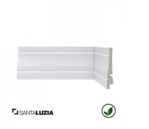 Rodapé Santa Luzia poliestireno 443 branco Clássica 8,9cm x 17mm x 2,40m