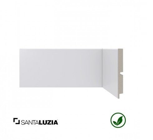 Rodapé Santa Luzia poliestireno 454 branco Moderna 10cm x 13mm x 2,40m