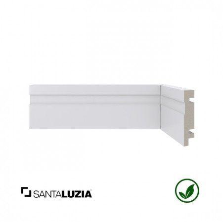 Rodapé Santa Luzia poliestireno 456 branco Moderna 7cm x 16mm x 2,40m