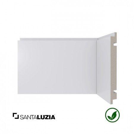 Rodapé Santa Luzia poliestireno 464 branco Moderna 10cm x 16mm x 2,40m