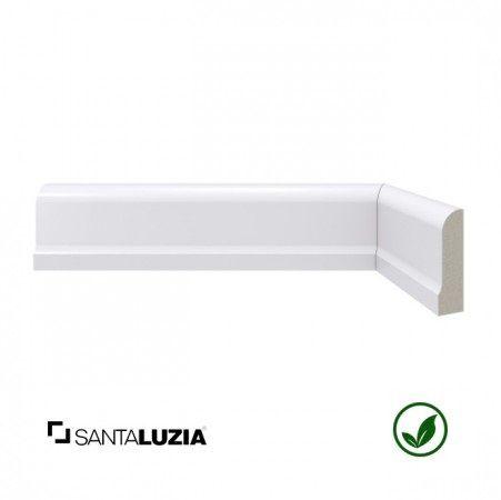 Rodapé Santa Luzia poliestireno 478 branco Moderna 5cm x 15mm x 2,40m