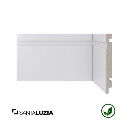 Rodapé Santa Luzia poliestireno 480 branco Moderna 15cm x 16mm x 2,40m