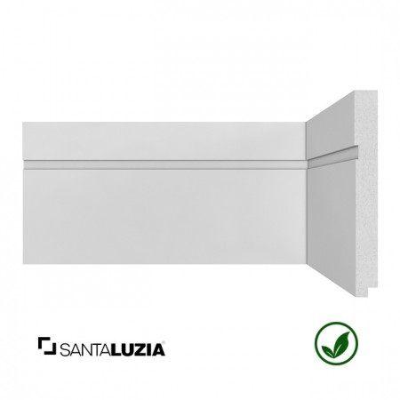 Rodapé Santa Luzia poliestireno 503 branco Moderna 15cm x 16mm x 2,40m