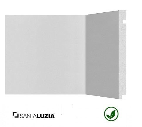 Rodapé Santa Luzia poliestireno 506 branco Moderna 20cm x 16mm x 2,40m
