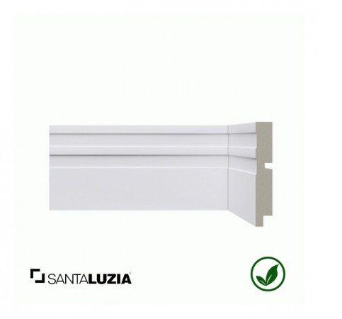 Rodapé Santa Luzia poliestireno 512 branco Moderna 10cm x 16mm x 2,40m
