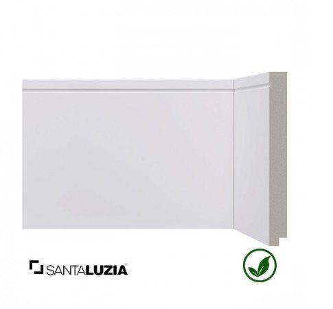 Rodapé Santa Luzia poliestireno 518 branco Inova 15cm x 16mm x 2,40m