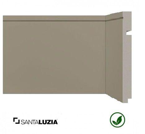 Rodapé Santa Luzia poliestireno 519 Cinza Titanium Inova uber 20cm x 16mm x 2,40m