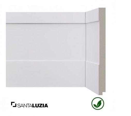 Rodapé Santa Luzia poliestireno 523 branco Inova 20cm x 16mm x 2,40m