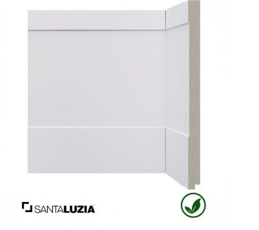 Rodapé Santa Luzia poliestireno 524 branco Inova 25cm x 16mm x 2,40m