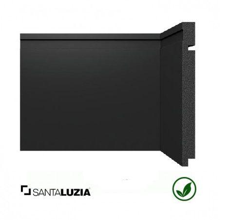 Rodapé Santa Luzia poliestireno 3505 preto Black 20cm x 16mm x 2,40m