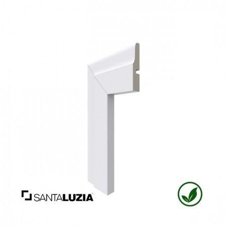 Guarnição Santa Luzia poliestireno 442 branco Clássica 6,7cm x 15mm x 2,40m