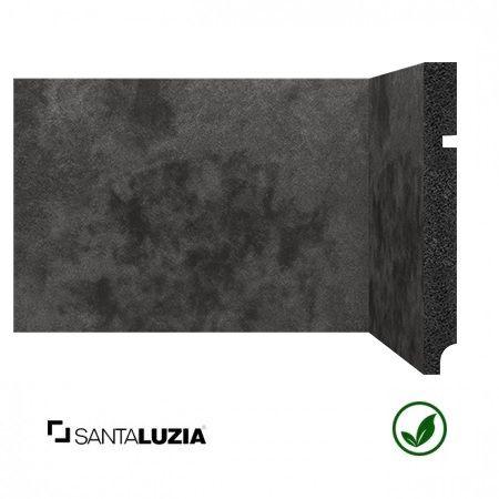 Rodapé Santa Luzia poliestireno 3496 Preto Coleção Óxi 15cm x 16mm x 2,40m