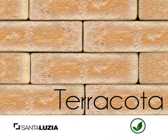 Revestimento de parede Ecobrick Santa Luzia Terracota grande - 7,5cmx27cmx9mm