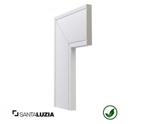 Guarnição Santa Luzia poliestireno 517 branco Inova 10cm x 16mm x 2,40m