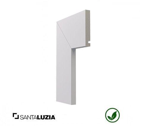 Guarnição Santa Luzia poliestireno 547 branco Moderna 10cm x 16mm x 2,40m