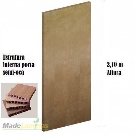 Porta lisa semi-OCA para verniz ou pintura padrão Curupixá 2,10 altura
