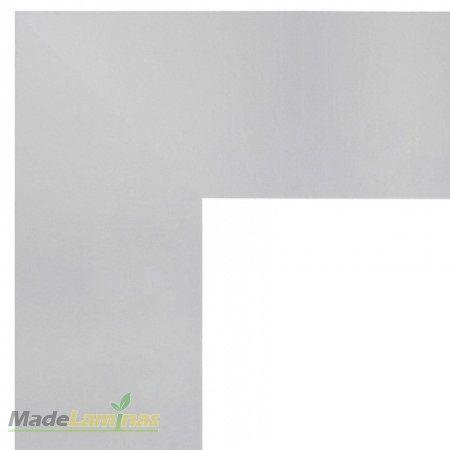 Guarnição em MDF Laminado Liso Reto/Quina Viva branco Madebene 7cm x 15mm x 2,30m