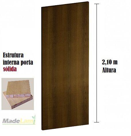 Porta lisa SÓLIDA para verniz ou pintura padrão Ipê Champanhe 2,10 altura
