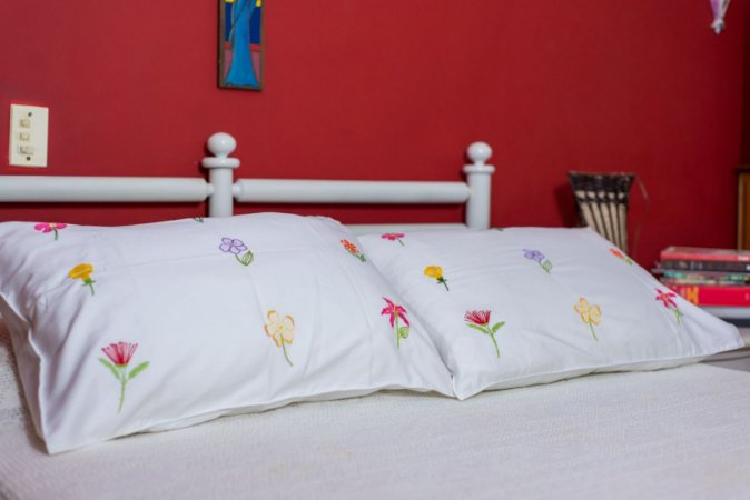 Capa para travesseiro florada