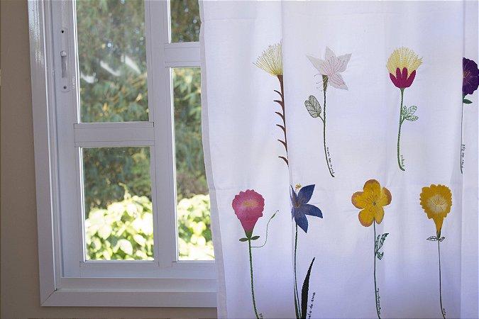 Cortina Flor Girafa, 15 flores. PRODUTO SOB ENCOMENDA