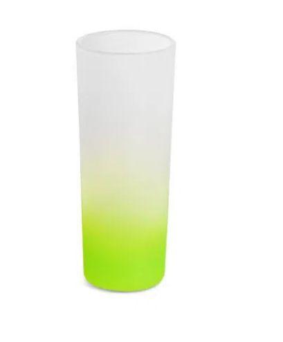 Copo de Vidro Mini Drink Jateado Degrade Verde Limão - 90ml