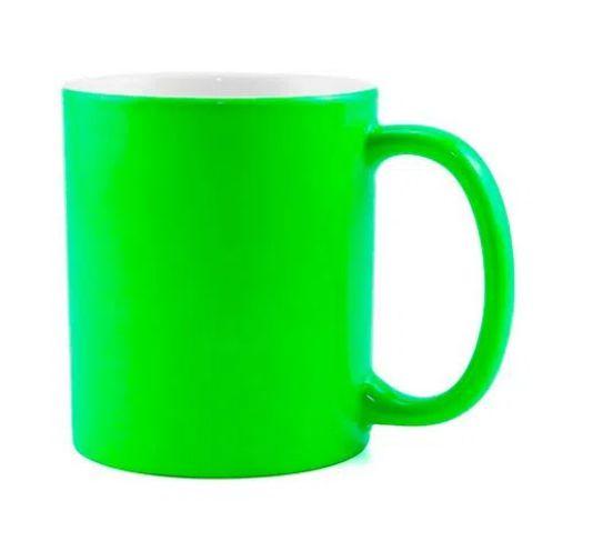 Caneca para Sublimação de Cerâmica Neon Fosca Verde