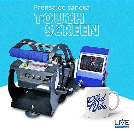 Prensa Térmica de Caneca Touch Screen LIVE - 220v