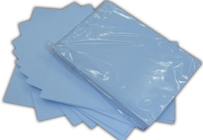 Papel Transfer Sublimatico, A3 Fundo Azul, Pacote 100 Folhas