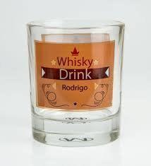 Copo Whisky Cristal C/Área Branca Para Sublimação