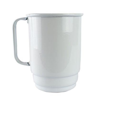 Caneca Chopp De Alumínio Branca 600ML Para Sublimação