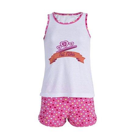 Pijama Feminino Infantil Dia Das Mães