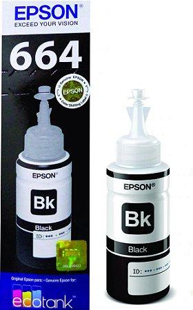 Refil Tinta 664 Brack Epson L220 L200 L355 L365 L110 L375 L800
