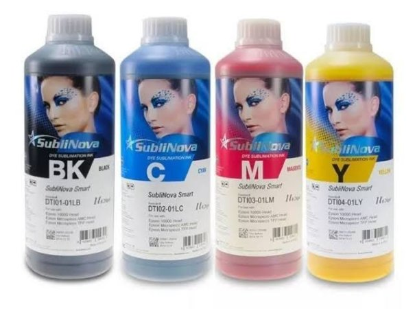 KIT TINTA SUBLIMÁTICA INKTEC SUBLINOVA SMART ORIGINAL 4X1000ML CADA