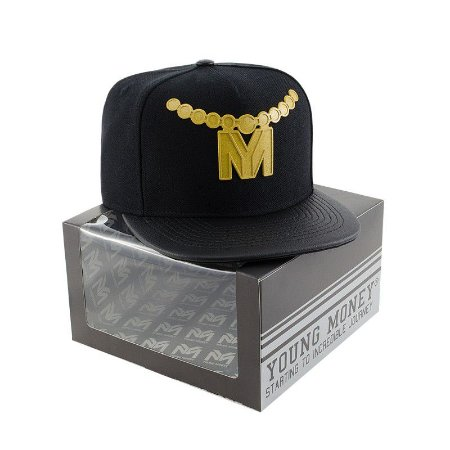 BONE ABA RETA YOUNG MONEY SNAPBACK RUBBER GOLD 3D