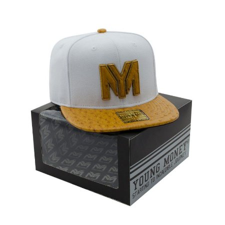 BONE ABA RETA YOUNG MONEY SNAPBACK AVESTRUZ CARAMEL