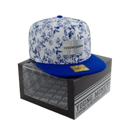 BONE ABA RETA YOUNG MONEY SNAPBACK FLORAL BLUE GOLD SERIES