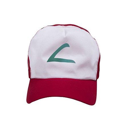Boné Branco C/ Tela E Aba Colorido Mod. Americano 1un vermelho