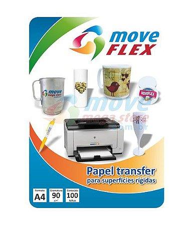 Papel Tranfer Laser 90gr MoveFlex 100 Folhas A4