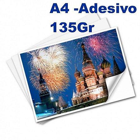 Papel Fotográfico Adesivo Brilhante A-4 135g 20 Folhas