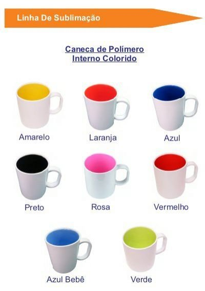 CANECA DE POLÍMERO INTERNO VERMELHO AAA
