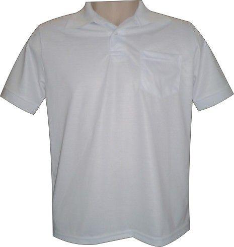 Camisa Polo Sublimática em Piquet 100% Poliester c/ Bolso P