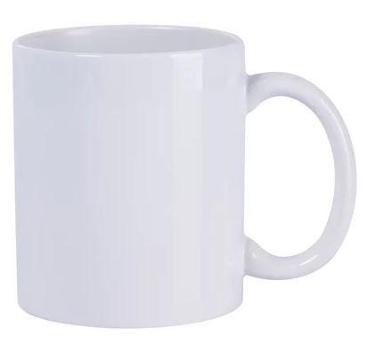 Caneca de Cerâmica Branca Classe AAA - Primeira Linha Importada - Metalnox - 1 Unidade