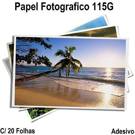 Papel Fotográfico Adesivo Brilhante A-4 115g 20 Folhas