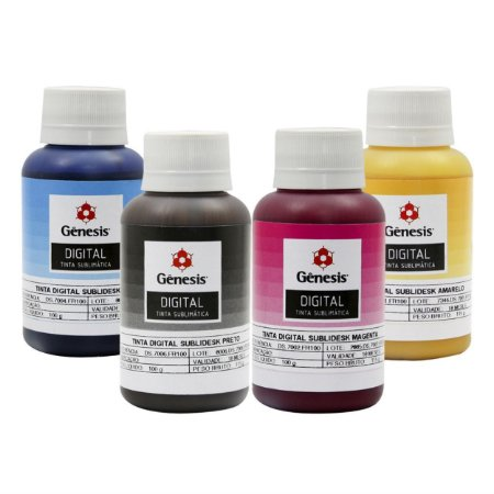 Kit 4 Tinta Sublimática Genesis - 400ml | (100ml cada cor)