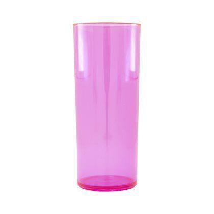 LONG DRINK ROSA TRANSLUCIDO P/ TRANSFER LASER OU SERIGRAFIA 1UN
